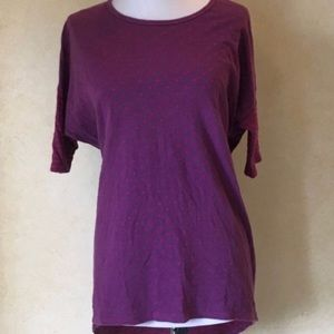 LuLaRoe Tunic Purple & Pink Hearts, Medium
